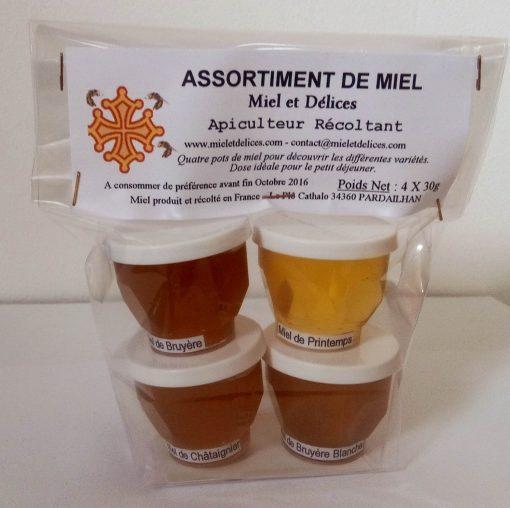 Vente en ligne d'assortiments de miels