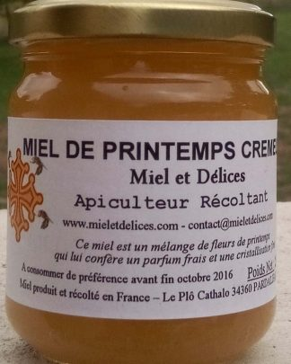 Miel et Délices : vente de miel de printemps crémeux en ligne