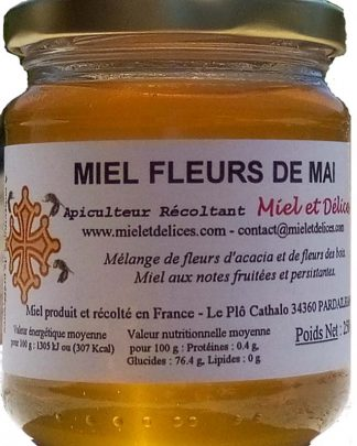 Vente en ligne de miel de fleurs de mai